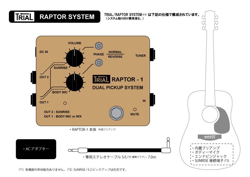RAPTOR-1システム構成